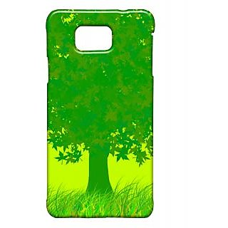Pickpattern Back Cover For Samsung Galaxy Alpha DARKGREEN&YELLOWSALP
