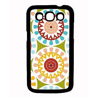 Pickpattern Back Cover For Samsung Galaxy Grand Quattro I8552 GREENSKULLQTR