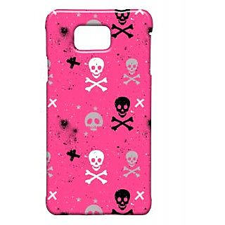 Pickpattern Back Cover For Samsung Galaxy Alpha REDSKULLSALP