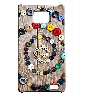 Pickpattern Back Cover For Samsung Galaxy S2 I9100 CIRCULARBUTTONS2