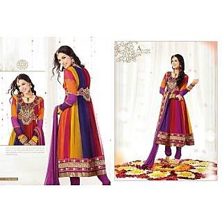 Designer Anarkali Semi Stitched Dress