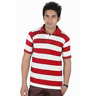 D&Y Single polo t-shirt with stripes (T133)