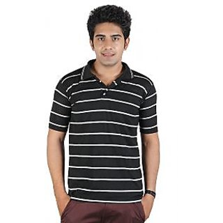 D&Y Single polo t-shirt with stripes (T144)