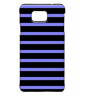 Pickpattern Back Cover For Samsung Galaxy Alpha BLACKSTRIPSSALP