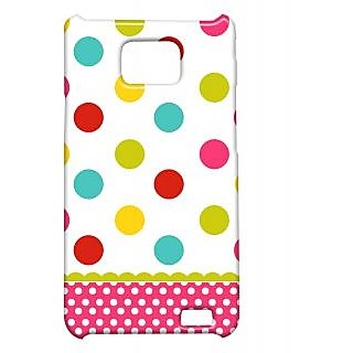 Pickpattern Back Cover For Samsung Galaxy S2 I9100 MULTIDOTSS2