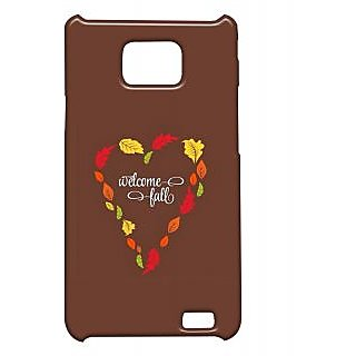 Pickpattern Back Cover For Samsung Galaxy S2 I9100 BROWNHEARTS2