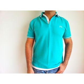 Mens Pique Polo Collared T Shirt Green