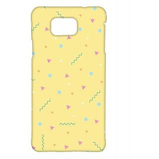 Pickpattern Back Cover For Samsung Galaxy Alpha SIMPLYYELLOWSALP