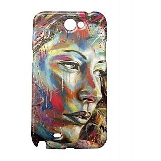 Pickpattern Back Cover For Samsung Galaxy Note 2 N7100 WOMANPOWERNT2