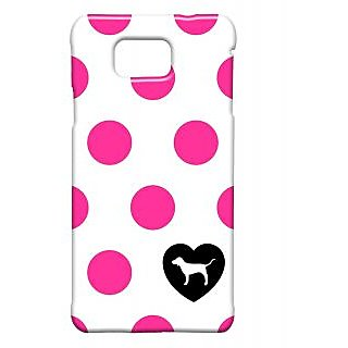 Pickpattern Back Cover For Samsung Galaxy Alpha PINKPOLKASALP