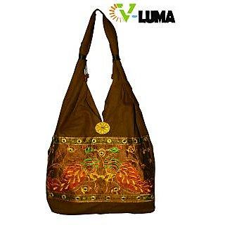 V-Luma Traditional Rajasthani Cotton Hand bags Brown