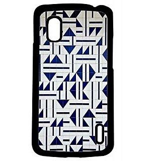 Pickpattern Back Cover For Lg Google Nexus 4 GEOMETRICALDESIGNN4-16991