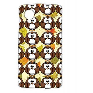 Pickpattern Back Cover For Lg Google Nexus 5 BROWNYOWLSN5-13832