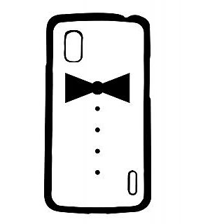 Pickpattern Back Cover For Lg Google Nexus 4 BLACKBOWN4-16755