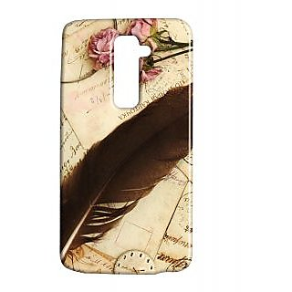 Pickpattern Back Cover For Lg G2 FEATHERFEARLGG2-15904
