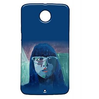Pickpattern Back Cover For Motorola Google Nexus 6 BLUEGIRLN6-17366