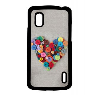 Pickpattern Back Cover For Lg Google Nexus 4 BUTTONGREYN4-16833
