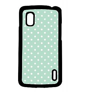 Pickpattern Back Cover For Lg Google Nexus 4 BLUE&WHITEDOTSN4-16781