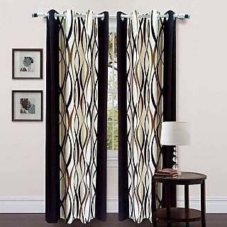Homefab India Zig Zag Coffee Window(6X4 ft)Curtain(HF265)