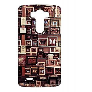 Pickpattern Back Cover For Lg G3 BROWNBUTTERFLYLGG3-13430