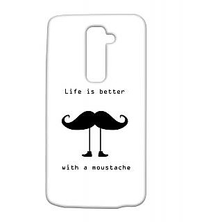 Pickpattern Back Cover For Lg G2 WITHMUSTACHELGG2-15305