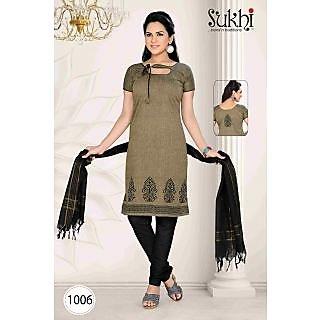 Sukhi Ethnic South Cotton Dress Material (Unstitched)