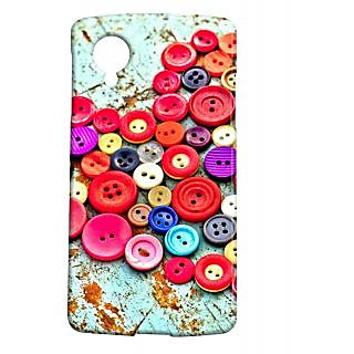 Pickpattern Back Cover For Lg Google Nexus 5 BUTTONHEARTN5-14242