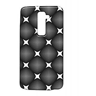 Pickpattern Back Cover For Lg G2 SPARKLINGBLACKLGG2-15654