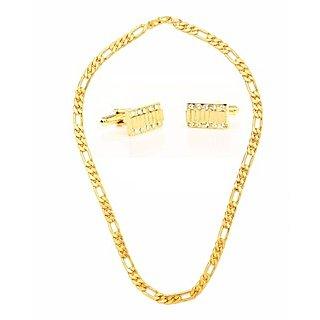 Popular Sachin Chain And Studded Cufflink