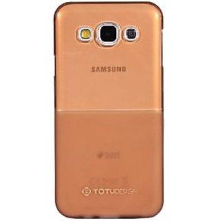 KMS Totu design half glossy soft half matte silicon case for Samsung Galaxy E7