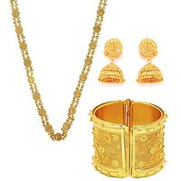 Combo Of Ginni Chain, Golden Jhumki And Kada