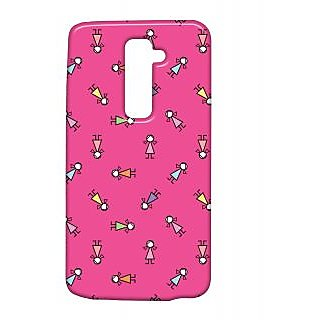 Pickpattern Back Cover For Lg G2 SCHOOLGIRLLGG2-15492