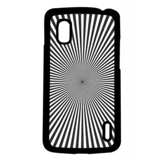 Pickpattern Back Cover For Lg Google Nexus 4 BLACKPSYCHEDLICN4-16768