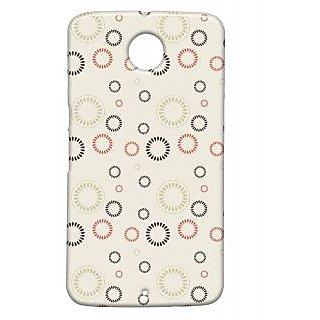 Pickpattern Back Cover For Motorola Google Nexus 6 CIRCULARPATTERNN6-17839