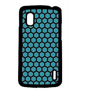 Pickpattern Back Cover For Lg Google Nexus 4 BLUEHONEYCOMBN4-16793