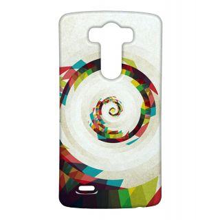 Pickpattern Back Cover For Lg G3 SPIRALPATHLGG3-13630