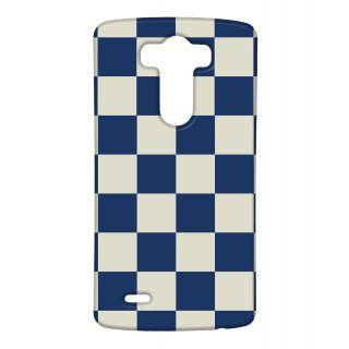 Pickpattern Back Cover For Lg G3 BLUECHESSLGG3-12941