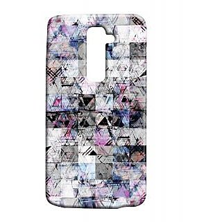 Pickpattern Back Cover For Lg G2 BLACK&WHITELGG2-15730