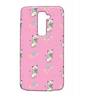 Pickpattern Back Cover For Lg G2 DANCINGKITTYLGG2-15479