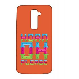 Pickpattern Back Cover For Lg G2 HORNPLEASELGG2-15989