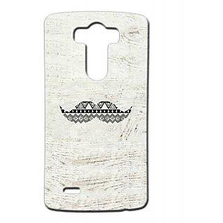 Pickpattern Back Cover For Lg G3 MUSTACHELGG3-13360