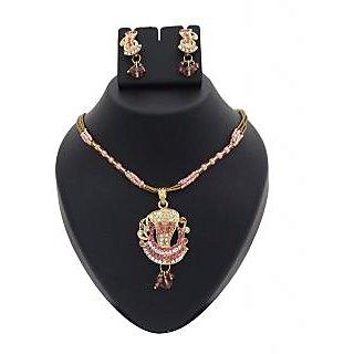 14Fashions Fancy Pink  Diamond Pendant Set - 1200210