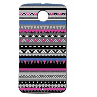 Pickpattern Back Cover For Motorola Google Nexus 6 PURPLE&BLACKN6-17753