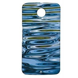 Pickpattern Back Cover For Motorola Google Nexus 6 BLUEWATERSN6-17578