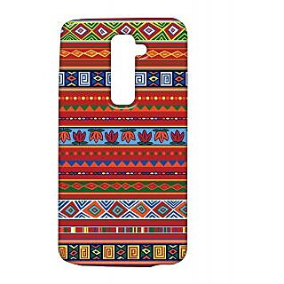 Pickpattern Back Cover For Lg G2 REDETHNICLGG2-15489