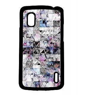 Pickpattern Back Cover For Lg Google Nexus 4 BLACKANDWHITEN4-16752