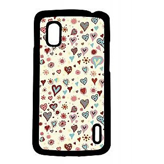 Pickpattern Back Cover For Lg Google Nexus 4 CUPCAKESHEARTN4-16887