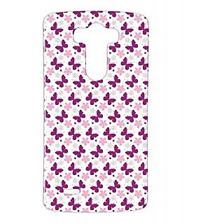Pickpattern Back Cover For Lg G3 PURPLEBUTTERFLYLGG3-12741