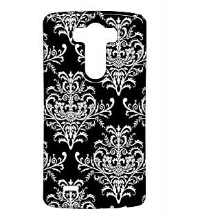 Pickpattern Back Cover For Lg G3 BLACKEMBROIDERYLGG3-13447