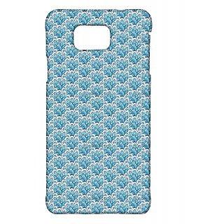 Pickpattern Back Cover For Samsung Galaxy Alpha PETALBLUESALP